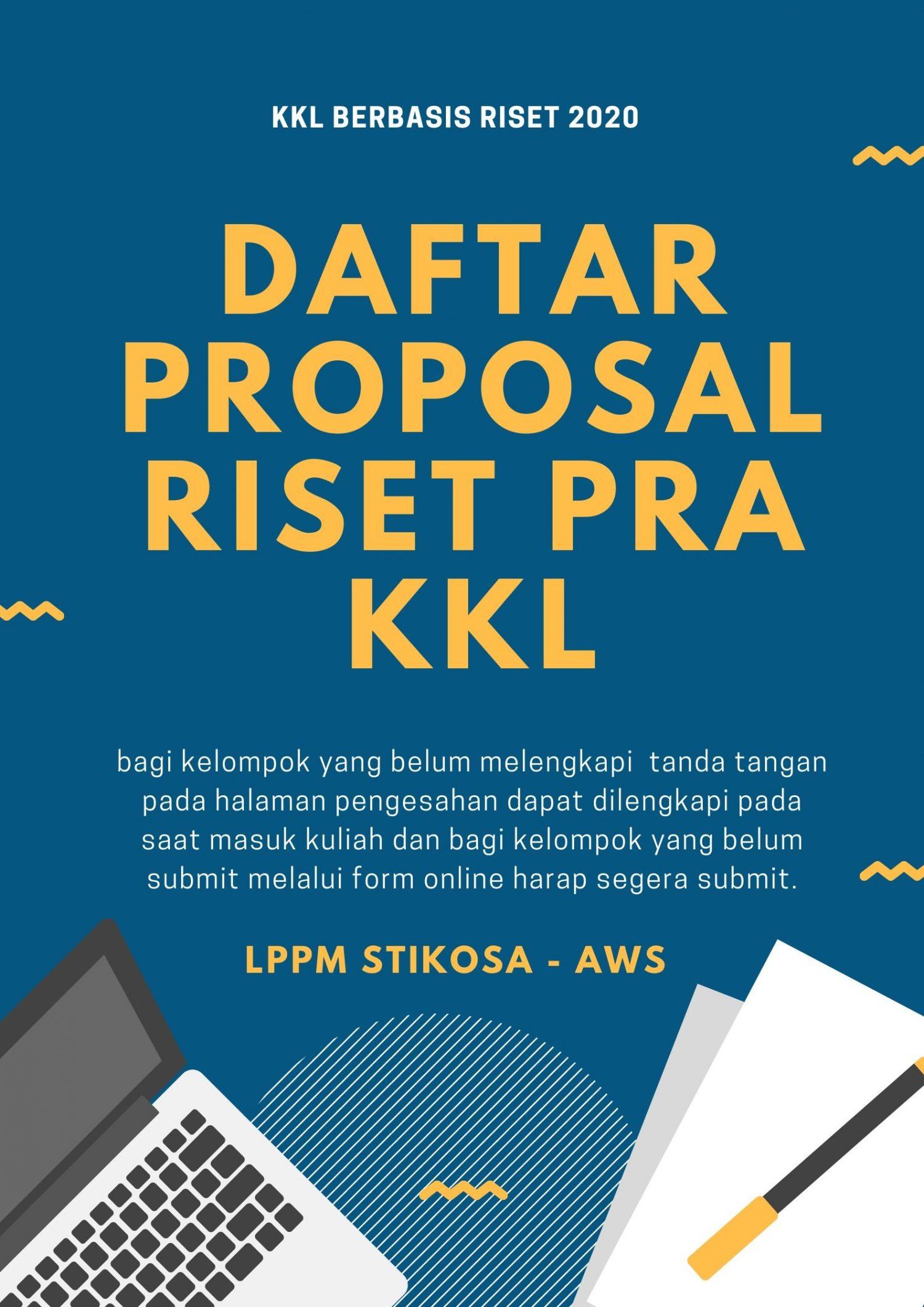 daftar proposal riset pra kkl
